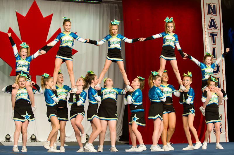 The Capital City Storm perform at the National Cheer Championships in Niagara Falls, Ontario. Photo by Michael Bennett.