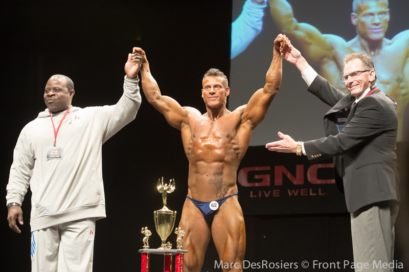 """November 3rd, 2012. Roberto Lagana wins the Men's Bodybuilding category at the OPA's annual fitness and bodybuilding competion held at the CEGEP de l""""Outaouais in Gatineau, Quebec."""