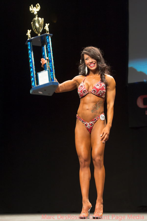 "November 3rd, 2012. Sophie Hoang wins the women's Figure category at the OPA's annual fitness and bodybuilding competion held at the CEGEP de l""Outaouais in Gatineau, Quebec."