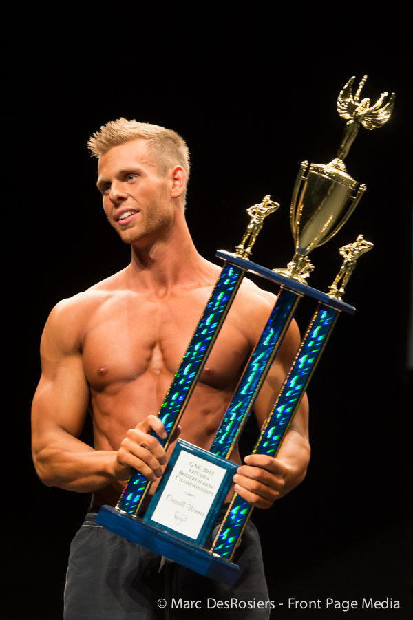 "November 3rd, 2012. Josh Wunderlich wins the Men's Physique category at the OPA's annual fitness and bodybuilding competion held at the CEGEP de l""Outaouais in Gatineau, Quebec."