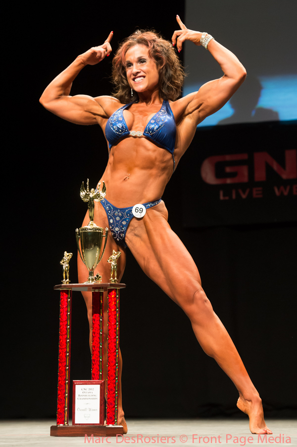 "November 3rd, 2012. Myriam Paquin wins the Women's Physique category at the OPA's annual fitness and bodybuilding competion held at the CEGEP de l""Outaouais in Gatineau, Quebec."